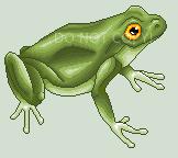 Pixel frog by Flitsen