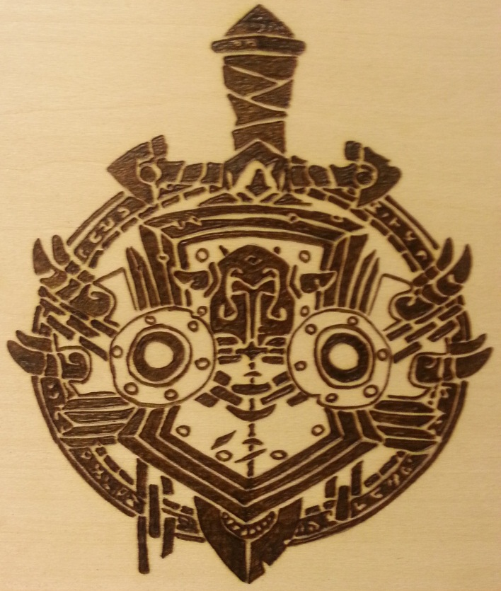 Woodburning - WoW - Tribal Warrior Icon by Stepher17 on ...