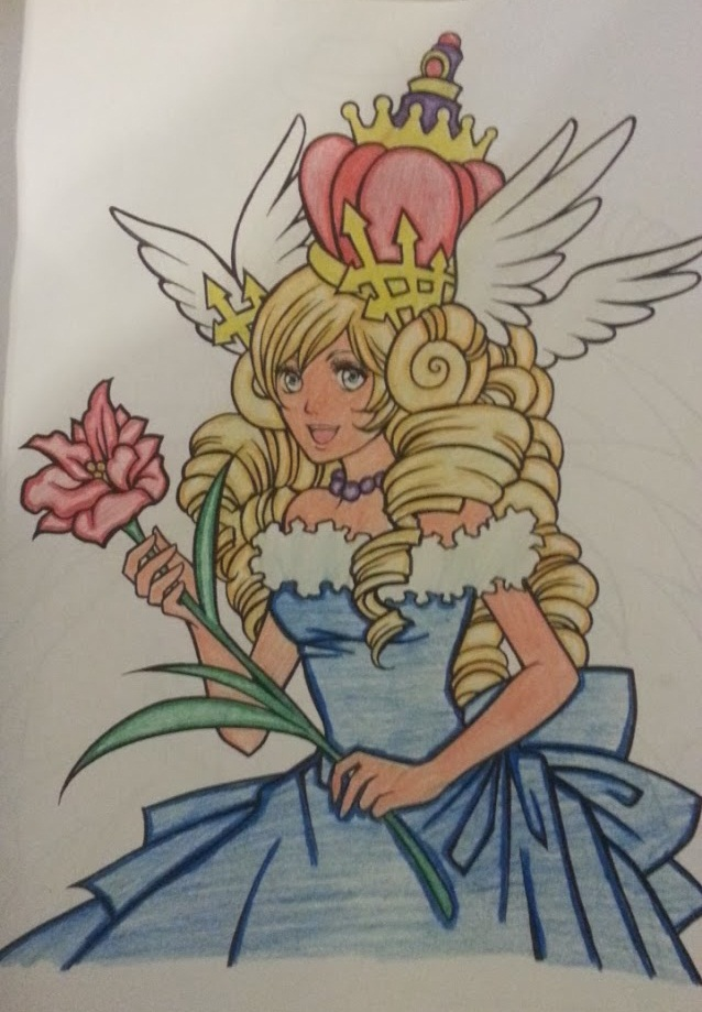 Shojo manga coloring book queen by stepher17 on deviantart for Michaels arts and crafts queens