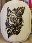 Woodburning - Christmas Gift - Tribal Wolf