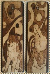 Woodburning - Wolf Bookmark