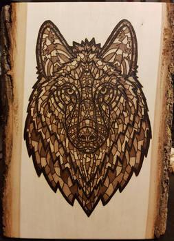 Woodburning - Ornate Wolf