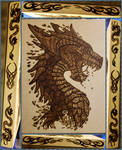Woodburning - Water Dragon Head