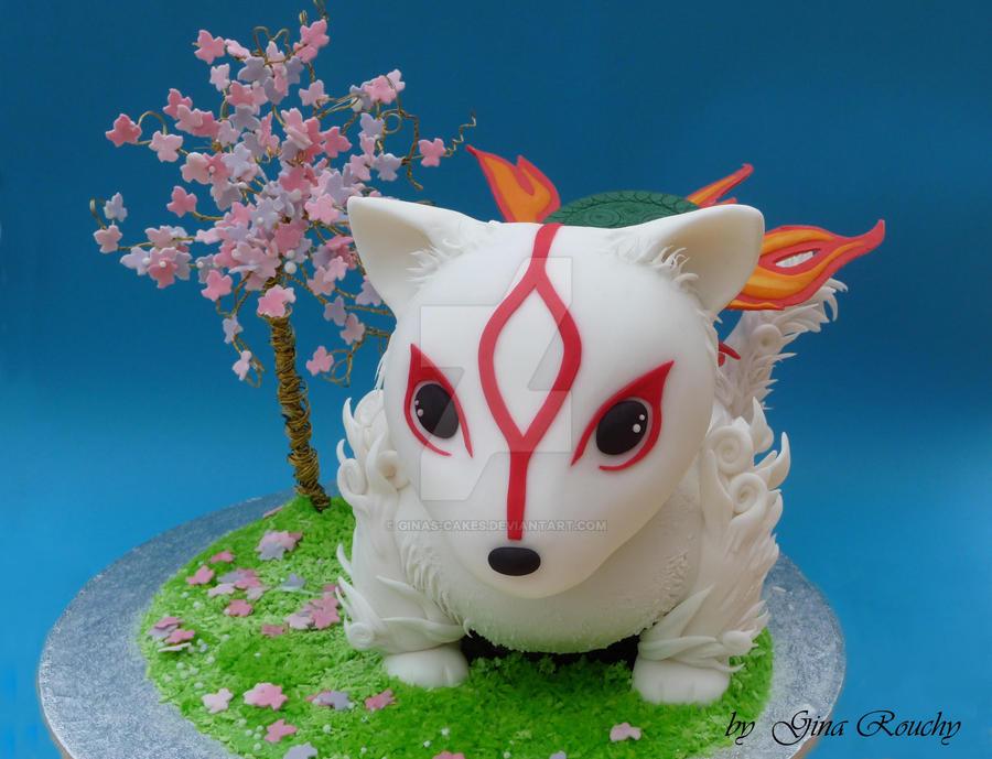 Chibi Okami Cake by ginas-cakes