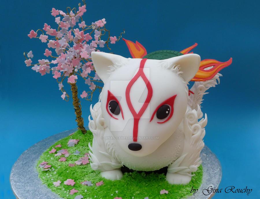 Chibi Okami Cake