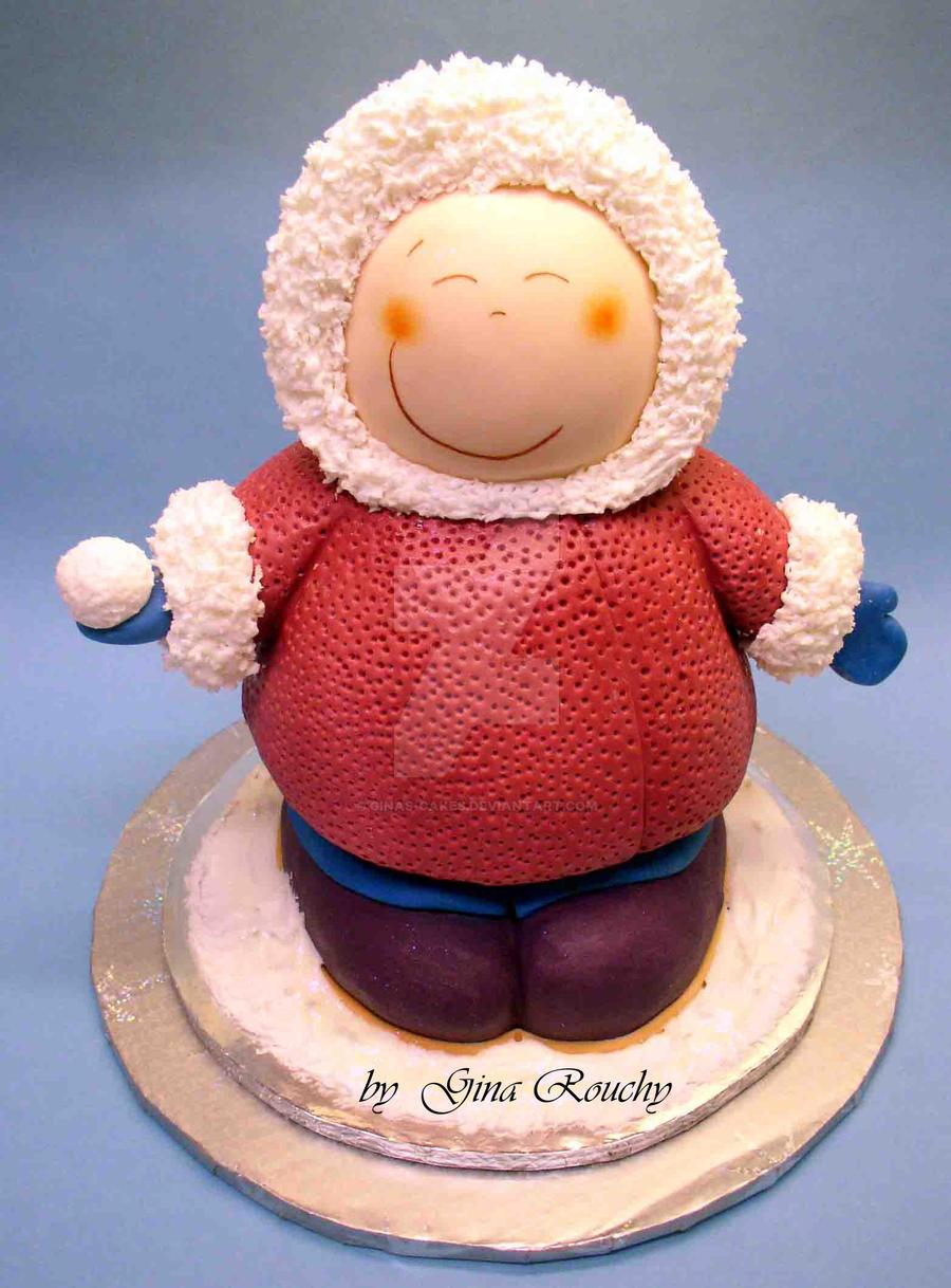 Eskimo Christmas Cake by ginas-cakes