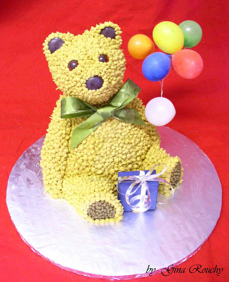 Robert Teddy Cake Artist : Teddy Cake by ginas-cakes on DeviantArt