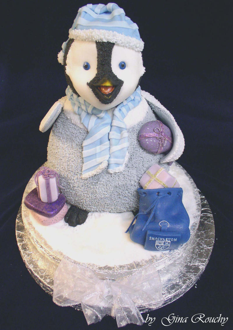Penguin Cake by ginas-cakes