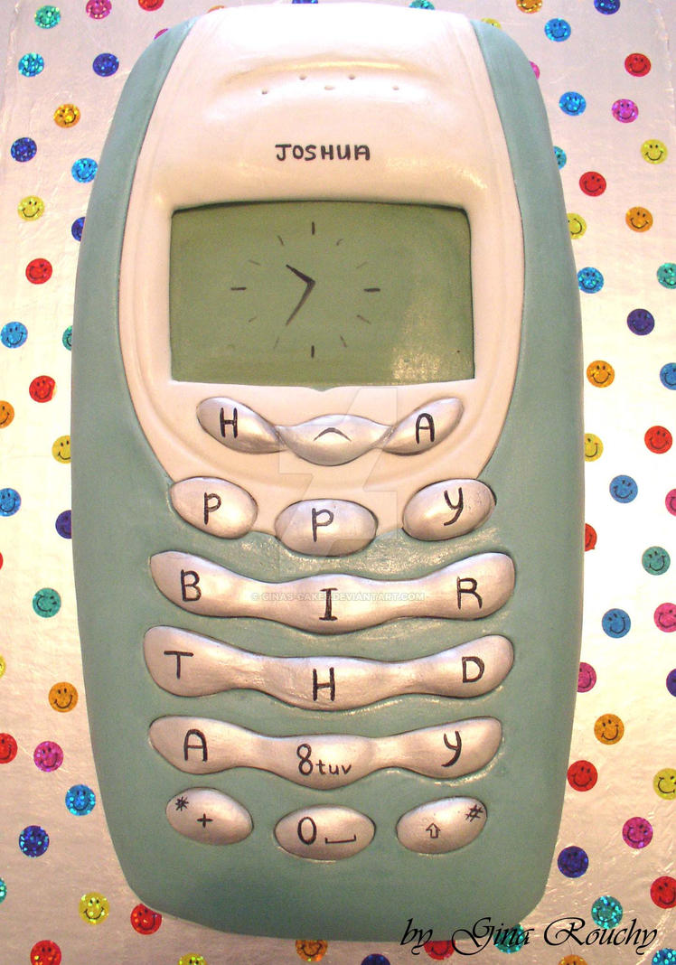 Nokia Cake by ginas-cakes