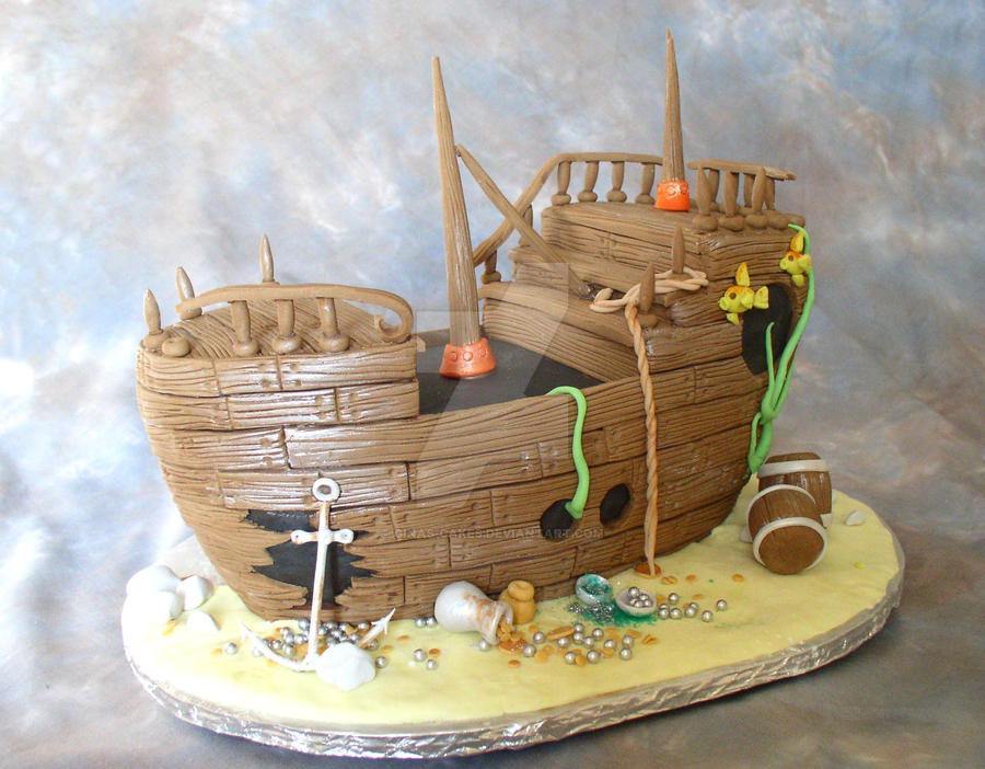 Sunken Treasure Cake by ginascakes on DeviantArt