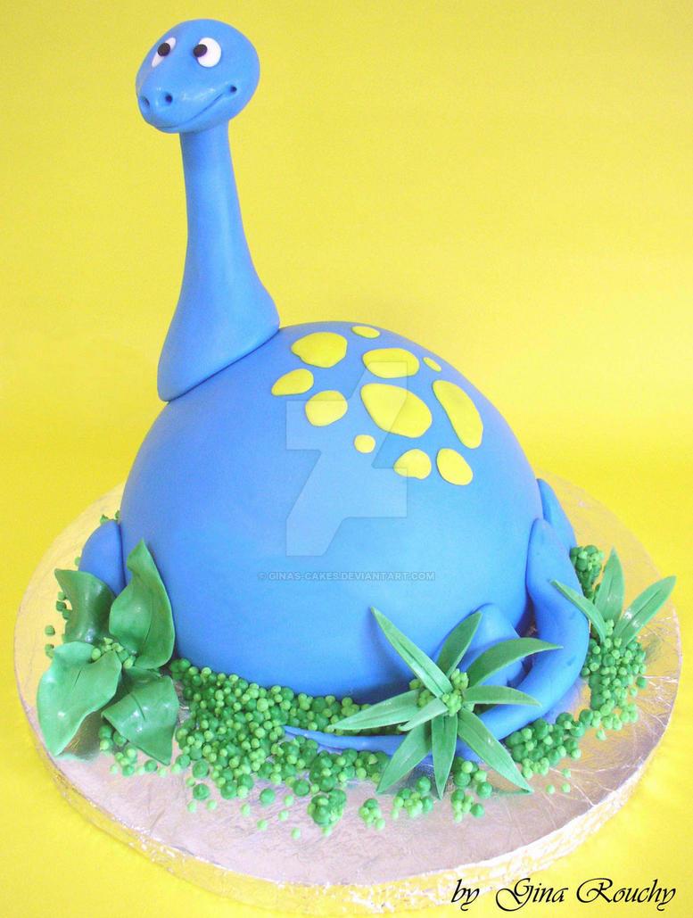 Dippy Dino Cake by ginas-cakes