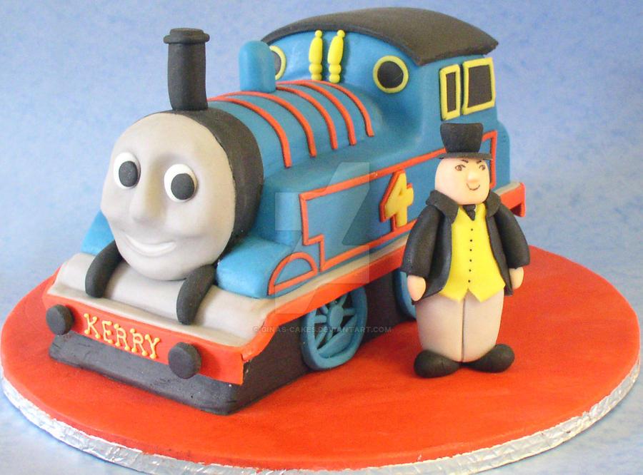 Thomas the Tank Engine Cake by ginas-cakes