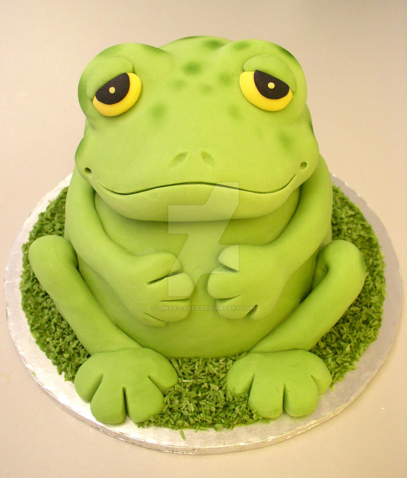 Toad Cake by ginas-cakes
