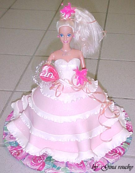 Barbie 1 Cake by ginas-cakes