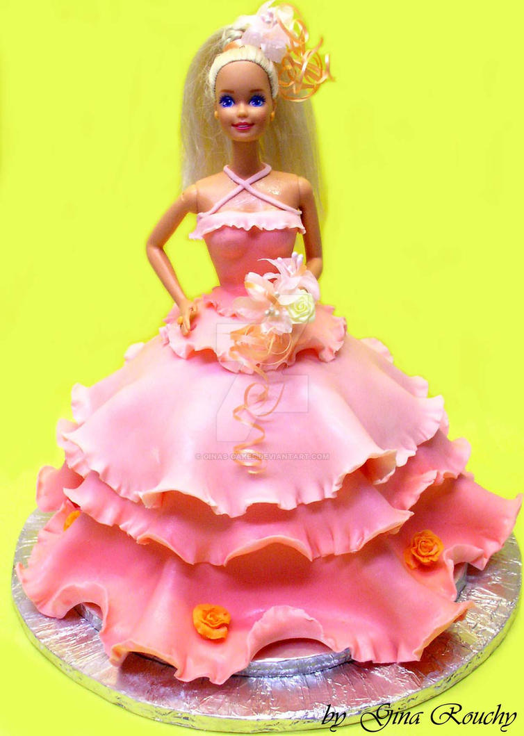 Barbie 2 Cake by ginas-cakes