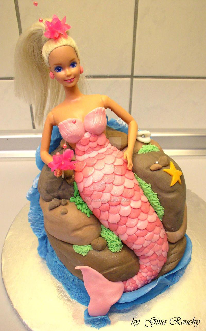 Mermaid Barbie Cake by ginas-cakes