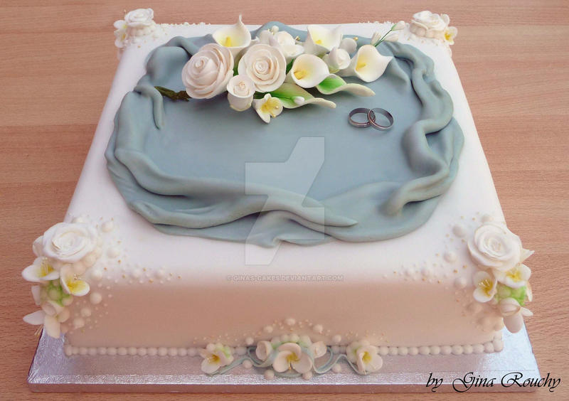 Flower Wedding Cake by ginas-cakes