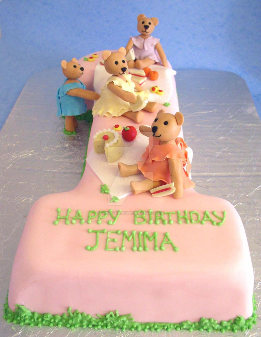 Teddy's Picnic Cake by ginas-cakes