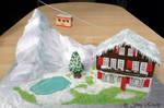 Switzerland Scene Cake