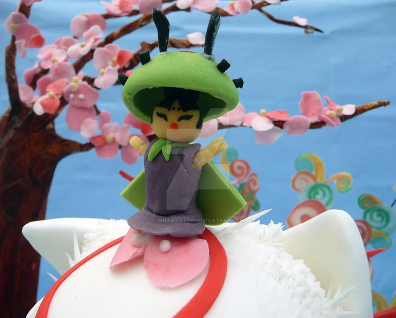 Issun from Okami cake