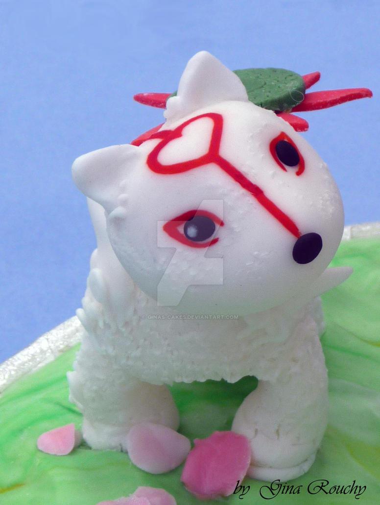 Chibi Okami Baby by ginas-cakes