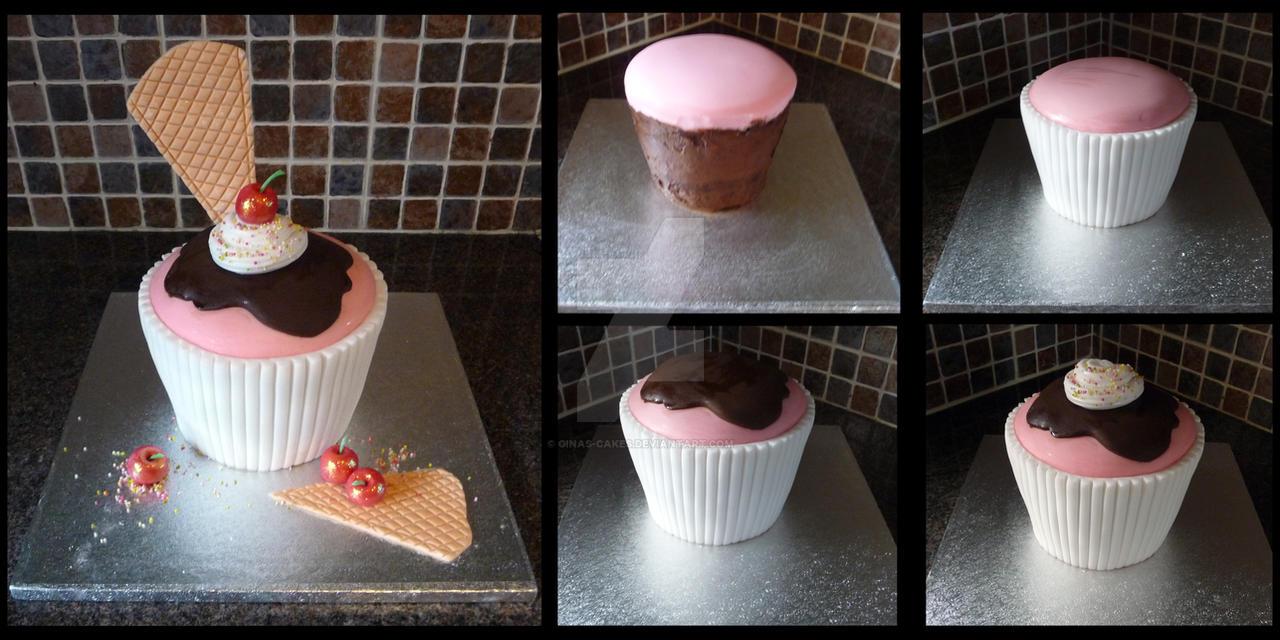 Cup-Cake Cake by ginas-cakes