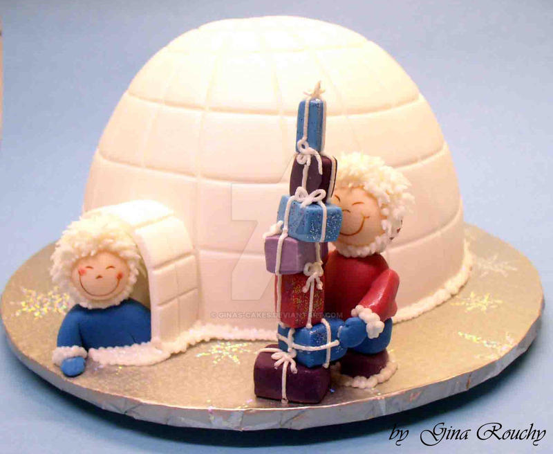 Igloo Cake by ginas-cakes