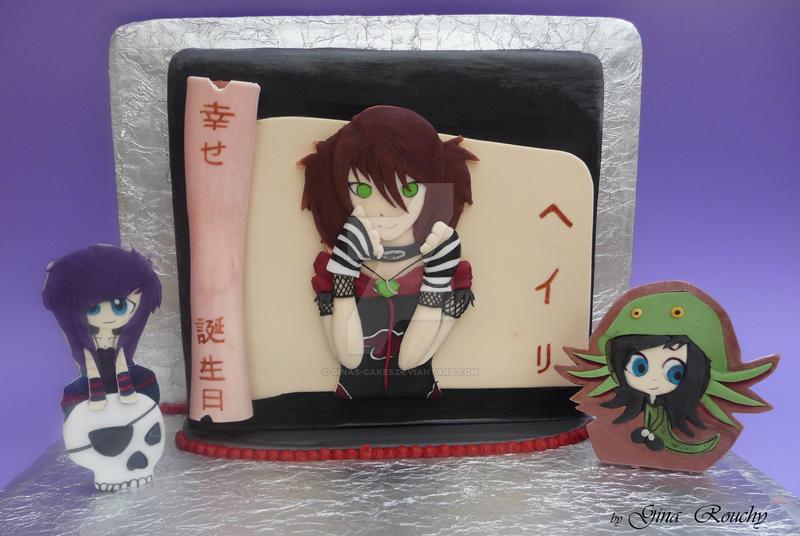 ScenicSakura Cake by ginas-cakes