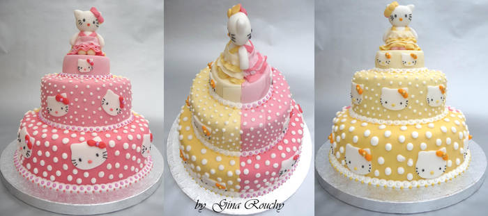 Double Hello Kitty Cake