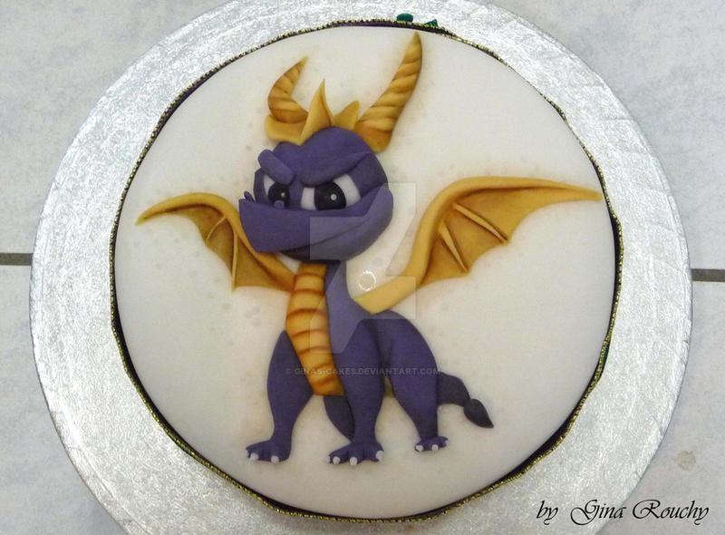 Spyro Cake by ginas-cakes