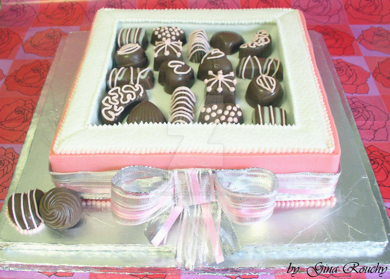 Box of Chocolates Cake by ginas-cakes