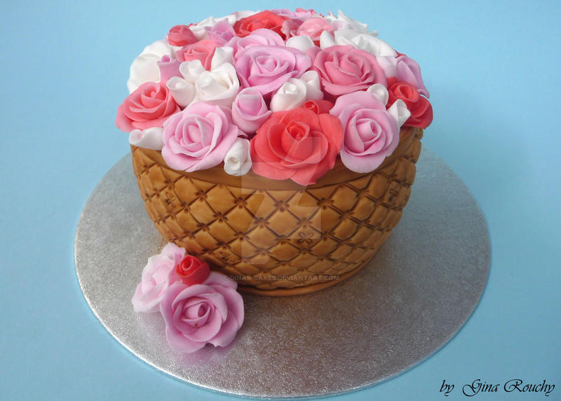 Pot of Flowers Cake by ginas-cakes