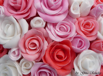 Fondant Roses by ginas-cakes