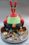Mr Krabs as Lara Croft Cake