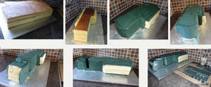 CTV Cake stages by ginas-cakes