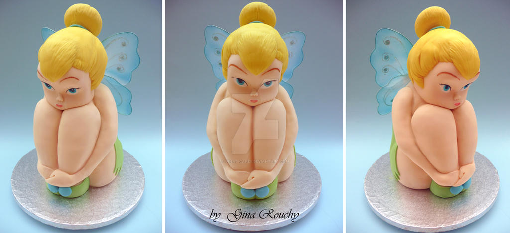 Tinkerbell 3D Cake by ginas-cakes