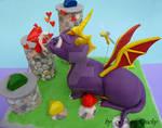 Spyro 3D Cake