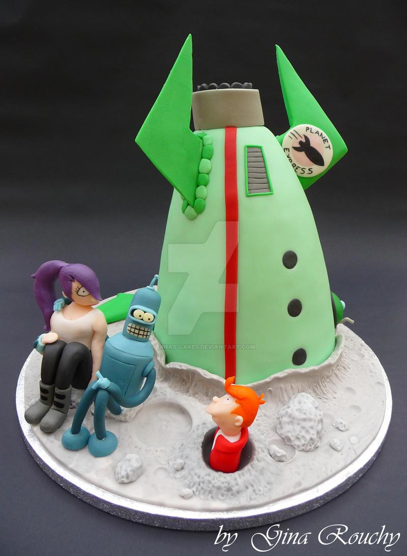 Futurama Cake by ginas-cakes