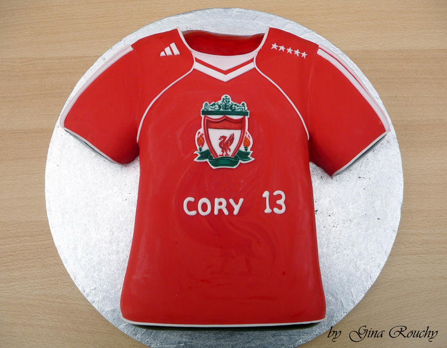 Liverpool T Shirt Cake By Ginas Cakes On Deviantart