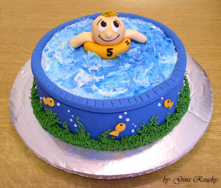 Swimming Cake by ginas-cakes on DeviantArt