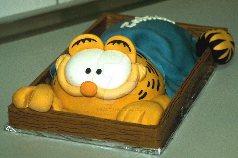 Garfield Cake by ginas-cakes