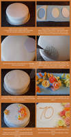 Tutoral - 70th Cake decoration