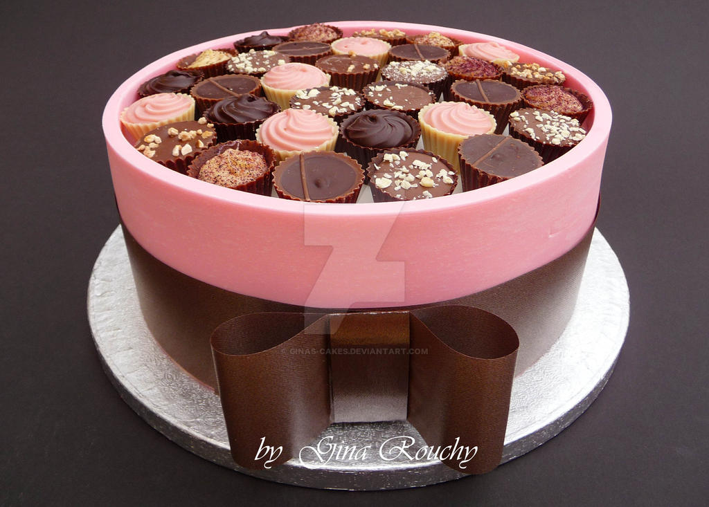 chocolate box cake pink chocolate box cake by ginas cakes on deviantart 2813