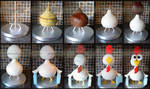 3D Chicken Cake Stages