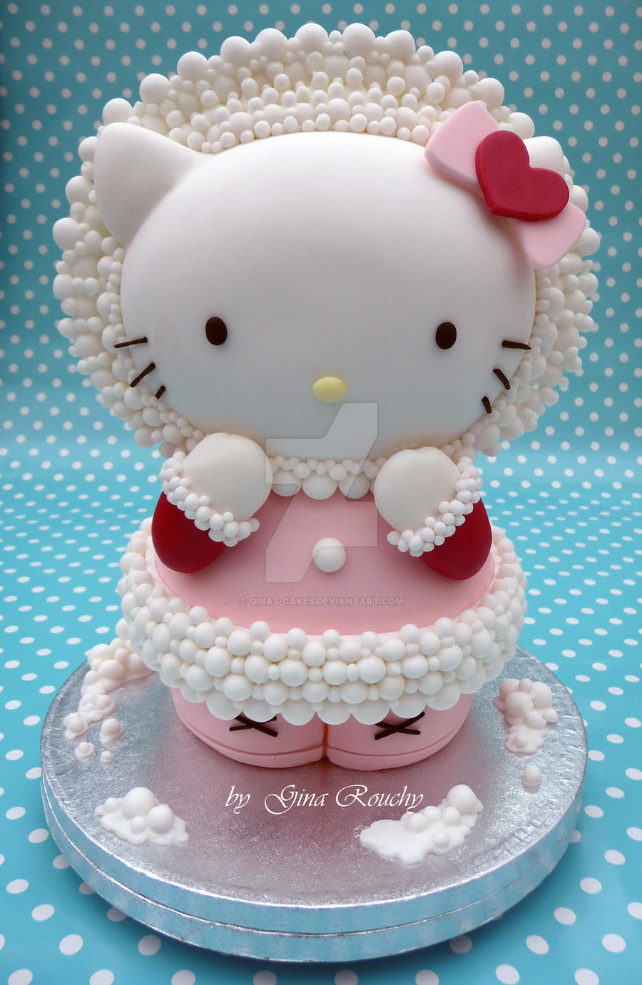 Hello Kitty Icing Cake Design : 3D Hello Kitty Cake by ginas-cakes on DeviantArt