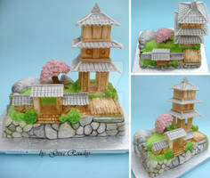 Ornamental Temple Cake by ginas-cakes