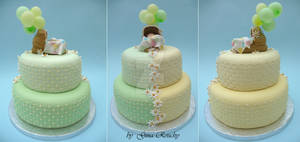 Baby in Cot Cake