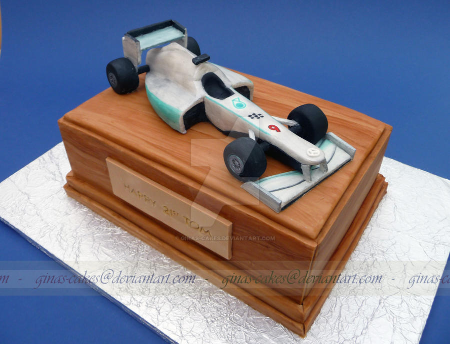 F1 Mercedes Cake by ginas-cakes