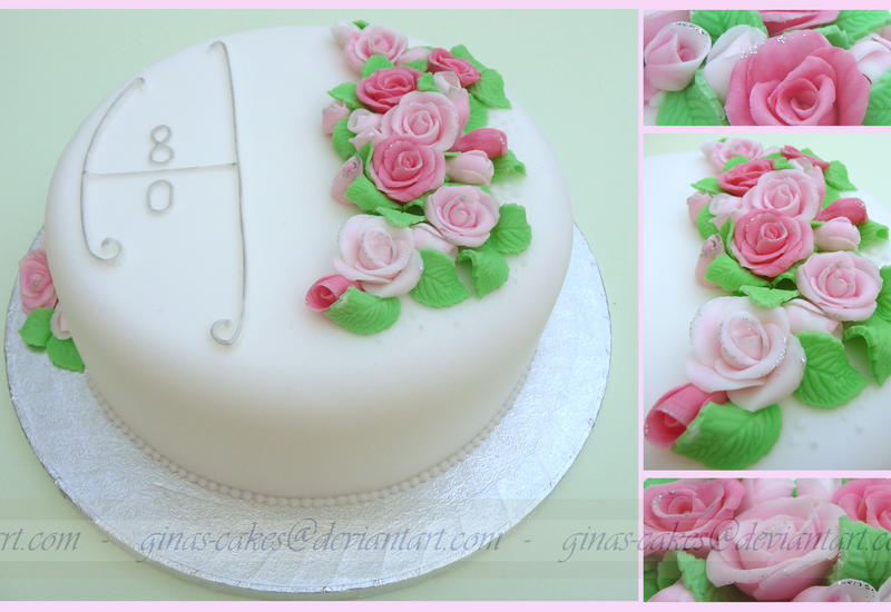 8oth Cake by ginas-cakes