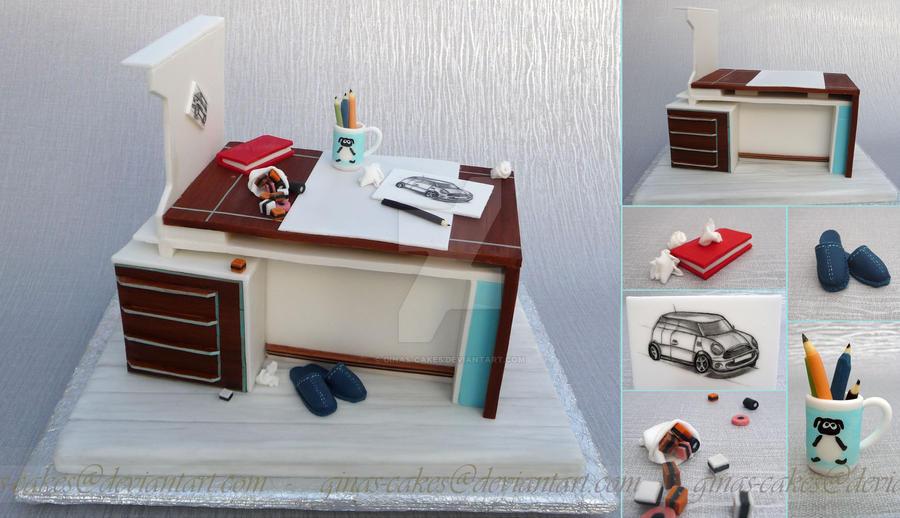 Desk Cake by ginas-cakes